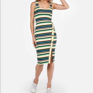 Express Dresses - BNWT Express Stripe Dress with Asymmetrical Button